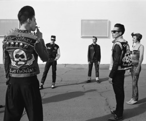 Ash Stymest, black and white, and punk image