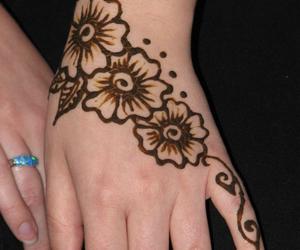 diy, henna, and henna tattoo image