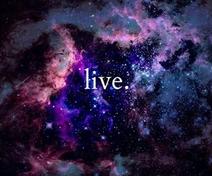 live, galaxy, and life image