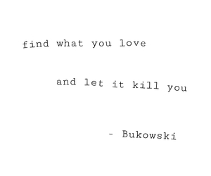 black and white, sad, and Bukowski image