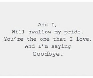 love, quote, and goodbye image