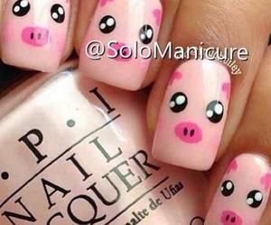 nails, pig, and pink image