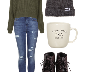 beanie, boots, and clothes image