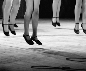 dance, black and white, and legs image