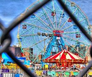 coney island, wonder wheel, and new york image