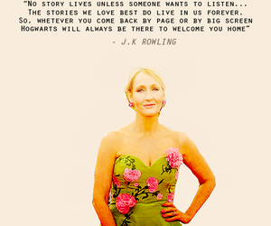 books, harry potter, and jk rowling image