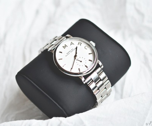 watch, silver, and fashion image