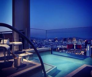 luxury, pool, and city image