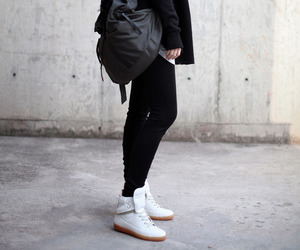 black, style, and hijab image