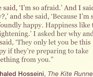 the kite runner and fear of happiness image
