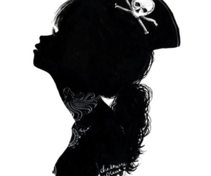 girl, pirate, and black image