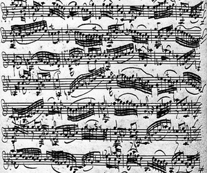 music, bach, and notes image