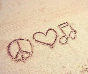 beach, music, and song image