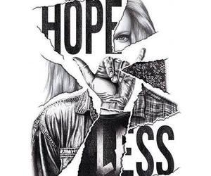 hopeless, girl, and hope image