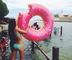 donuts, summer, and girl image