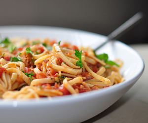 bokeh, pasta, and red image