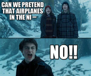 harry potter, funny, and airplanes image