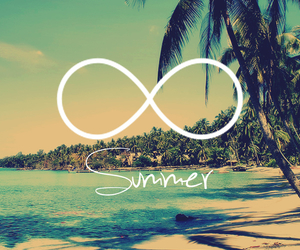 summer, beach, and infinity image