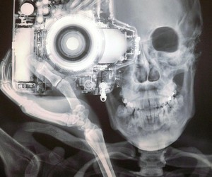 photography, camera, and skull image