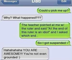 funny, dad, and awesome image