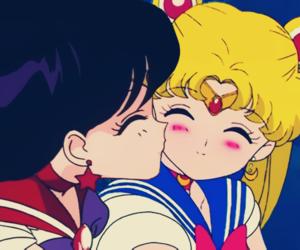 sailor moon, anime, and kiss image