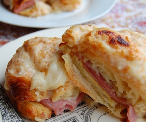 cheese, food, and ham image