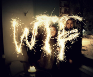 firework, light, and text image