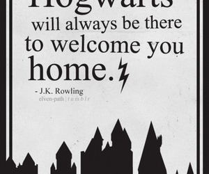 harry potter, hogwarts, and j.k. rowling image