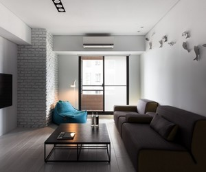 apartment, sliding door, and contemporary lighting image