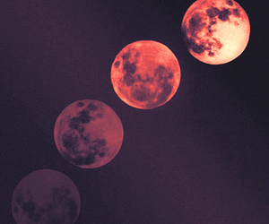 moon, night, and grunge image