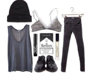 outfit, grunge, and shoes image