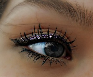 make up, eyes, and glitter image