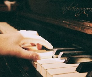 piano, music, and vintage image