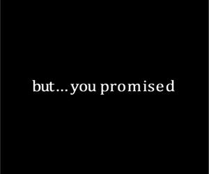 sad and brpken promise image