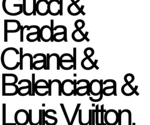 chanel, gucci, and Prada image