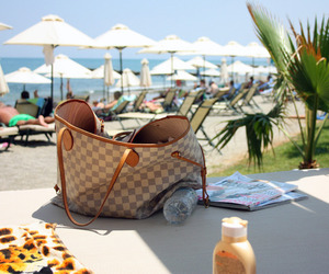 summer, bag, and beach image