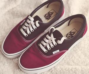 vans, fashion, and red image