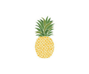 ananas, draw, and fruit image