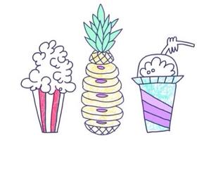 food, overlay, and pineapple image