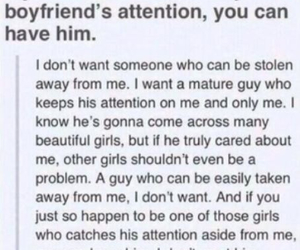 boyfriend, attention, and quote image