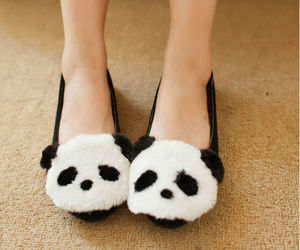 panda, shoe, and shoes image