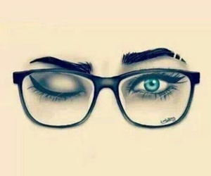eyes, glasses, and yeux image