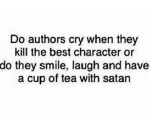 author, book, and satan image