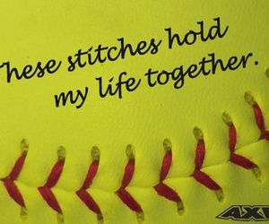 inspiration, quote, and softball image