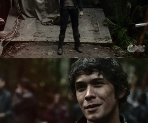 the 100, clarke griffin, and bellamy blake image