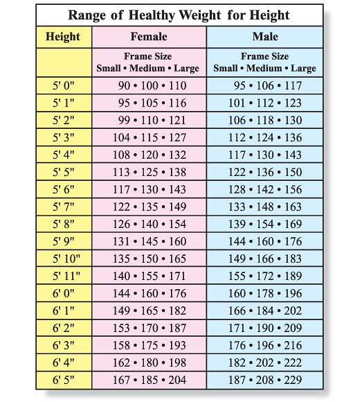 blood pressure chart by age and height and weight