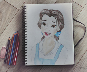 beauty and the beast, belle, and colors image