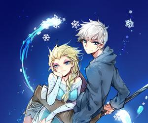 frozen elsa x jack frost image