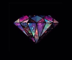 diamond, wallpaper, and galaxy image