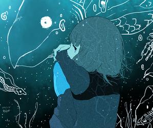 girl, anime girl, and art image